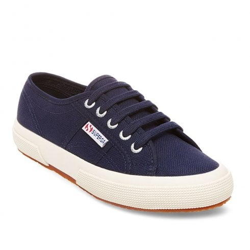 Superga Womens 2750 Classic Low Trainers - Navy Canvas
