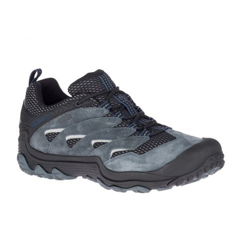 Merrell Men's CHAM 7 LIMIT WP Waterproof Hiking Shoes - Grey/Black J48985