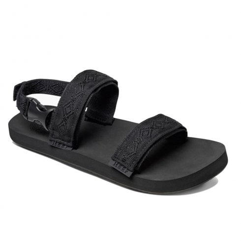 Reef Mens Convertible Velcro Straps Flat Sandals - Black RF0A2YGCBLA