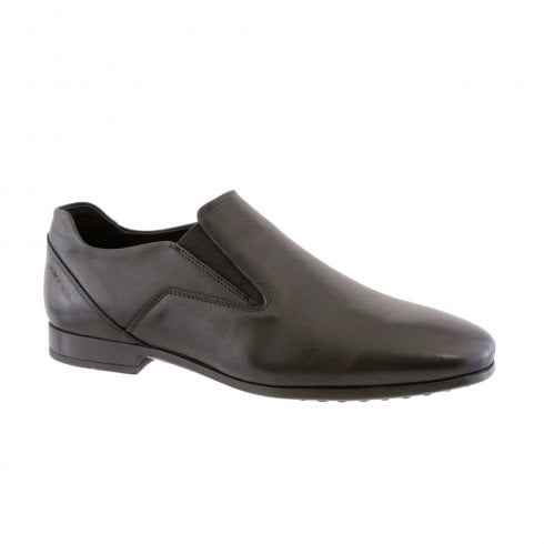 Morgan & Co Men's Black Formal Dress Slip On School Shoes