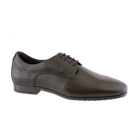 Morgan & Co Men's Black Formal Dress Lace Up School Shoes