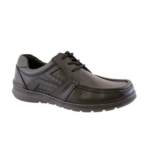 Morgan & Co Men's Black 3 Eyelet Laced Casual School Shoes