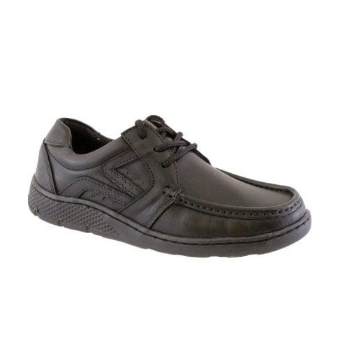 Morgan & Co Boy's Black Laced School Shoes