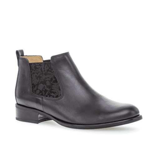 new products 5310a 3e802 Gabor Womens Nappa Leather Flat Ankle Boots - Navy