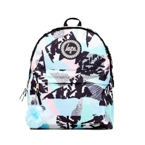 Hype Blue Multi Pastel Abstract Backpack BTS19037