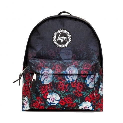 Hype Black Red Garden Fade Backpack BTS19036