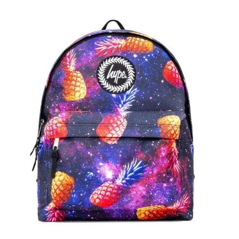 Hype Black Yellow Purple Pineapple Cosmo Backpack BTS19040