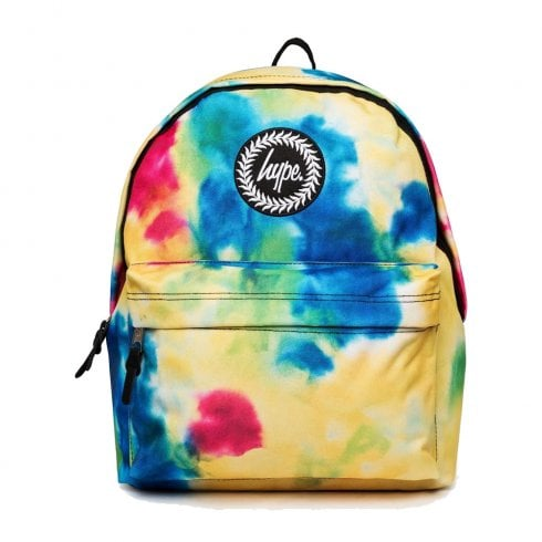 Hype Yellow Blue Tie Dye Backpack BTS19504