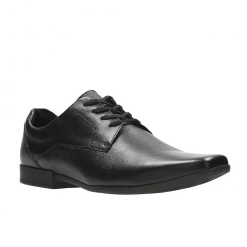 Clarks Mens Glement Lace Black Leather Smart Shoes G WIDTH
