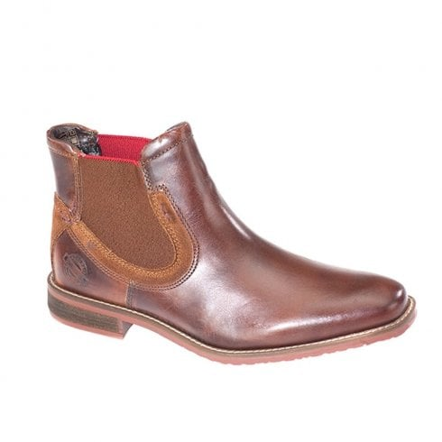 Dubarry Mens Santos Chelsea Style Leather Ankle Boots - Tan 4722