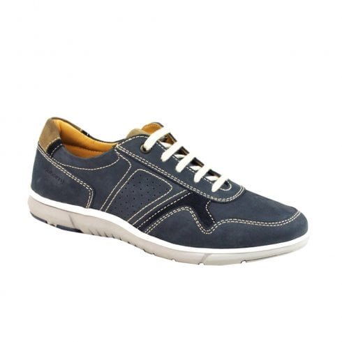 Dubarry Mens Benji Lace Up Leather Casual Shoes - Navy 4750