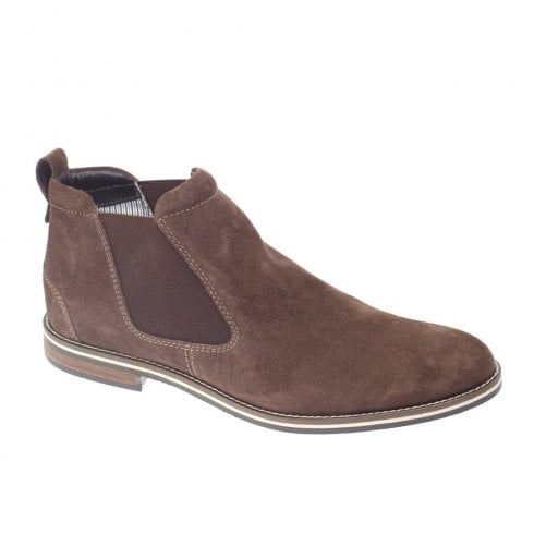 Dubarry Mens Sabin Slip On Suede Elastic Gusset Ankle Boots - Donkey Brown 4737