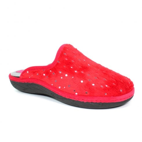 Lunar Womens Sonic Mule Slippers KLS109 - Red