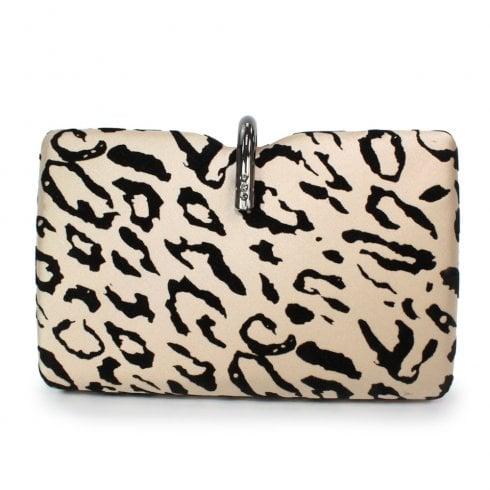 Lunar Womens Glam Ayda Raya Box Handbag - Leopard