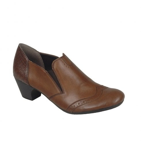 Rieker Womens Low Heel Casual Trouser (E Width) Shoes - Brown 50563