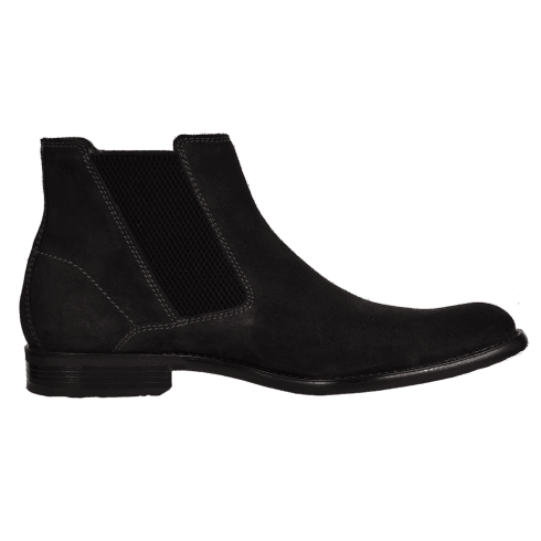 Bugatti Mens Black Suede Leather Smart Slip On Ankle Boots