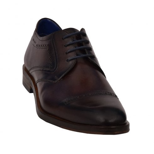 Bugatti Mens Dark Brown Leather Smart Lace Up Shoes