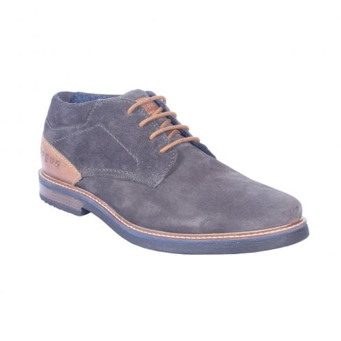 Bugatti 31160935 Mens Dark Grey Leather Casual Lace Up Low Boot