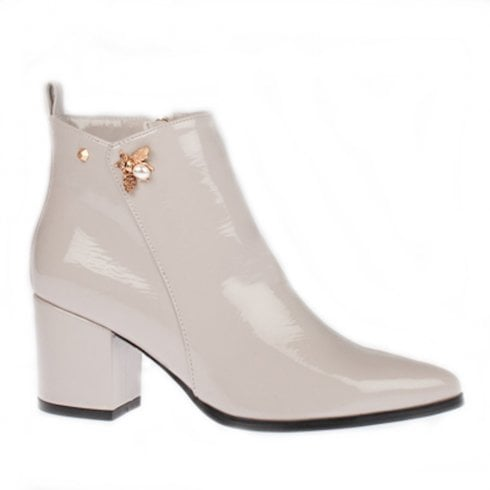 Kate Appleby Keswick Block Heeled Ankle Boots - Light Grey