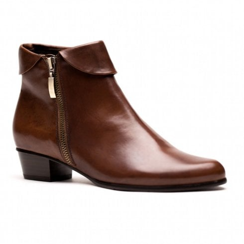 Regarde Le Ciel Womens Stefany Leather Ankle Boots - Tan