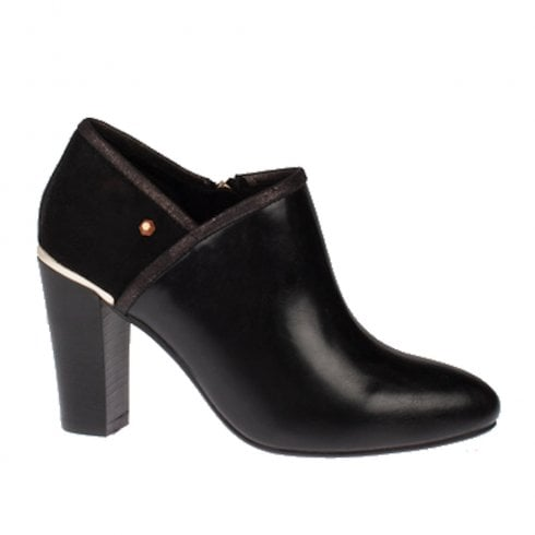 Kate Appleby Luss Heeled Leather Mix Ankle Boots - Black