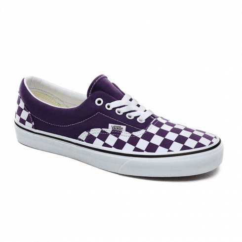 Vans Mens Checkerboard Era Trainers Shoes - Purple