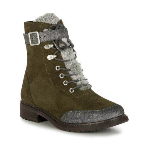 Emu Australia EMU Waldron Waterproof Lace Up Suede Leather Boots - Dark Olive