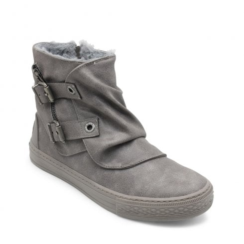 Blowfish Womens Koto Grey Ankle Boots