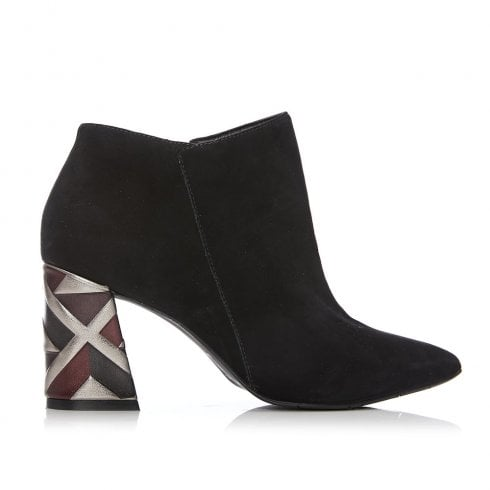 Moda In Pelle Kisha Exclusive Black Suede High Heeled Ankle Boots