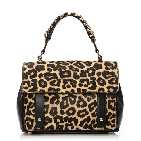 Moda In Pelle Felicitebag Leopard Leather Pony Bag