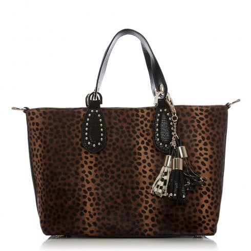 Moda In Pelle Millibag Brown Leopard Print Bag