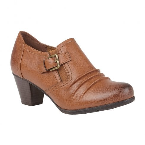 Lotus Womens Tan Patsy Heeled Shoe Boots