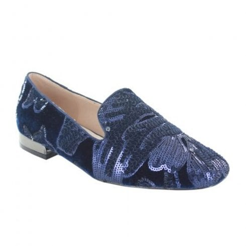 Menbur Womens Termoli Occasion Flat Navy Loafer Shoes