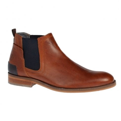 Escape Shoes Escape Mens Lenny Brandy Leather Pull On Chelsea Boots