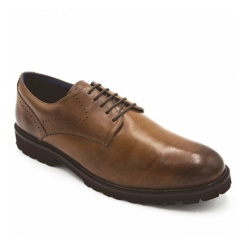 Padders Men's Uppingham Tan Lace Up Shoes