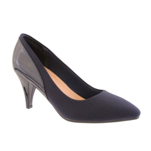 Susst Barino Serena-9 Navy High Heeled Court Shoes