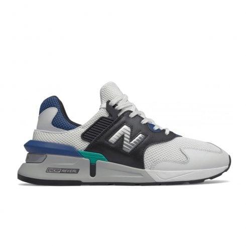 New Balance Mens Black White Sport Style Sneakers