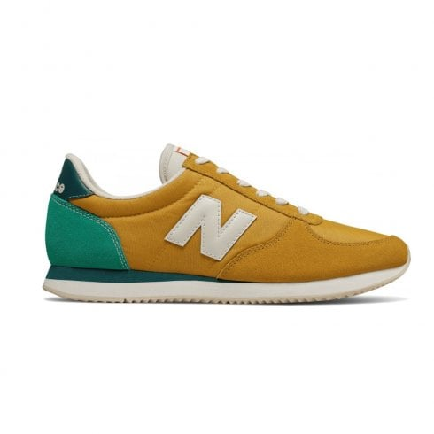 New Balance Mens Mustard Green Sport Style Sneakers