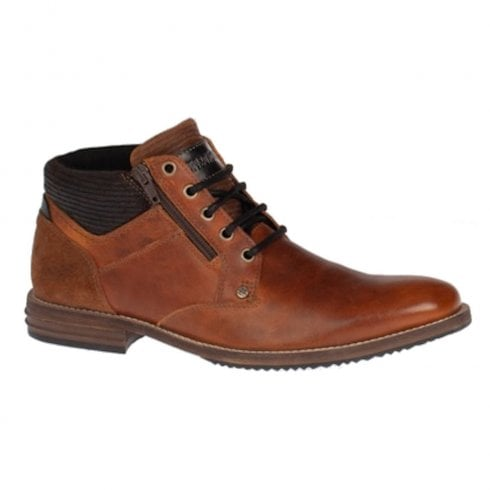 Lloyde & Pryce - Tommy Bowe Lloyd & Pryce Mens Wilkinson Camel Lace Up Zip Boots