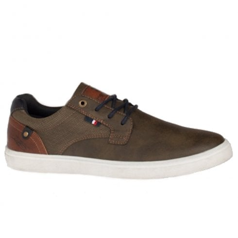 Lloyde & Pryce - Tommy Bowe Lloyd & Pryce Mens Duggan Olive Casual Lace Up Shoes
