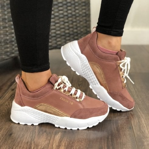 Susst Womens Rose Chunky Sporty Trainer Shoes - Lulu9