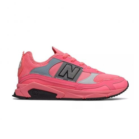 New Balance Womens X-Racer Lace Up Sneakers - Pink