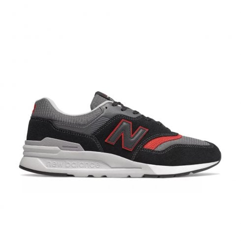 New Balance Mens 997 Lace Up Sneakers - Black