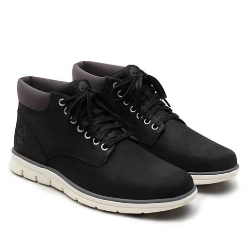 Timberland Mens Bradstreet Leather Chukka Black Nubuck Boots