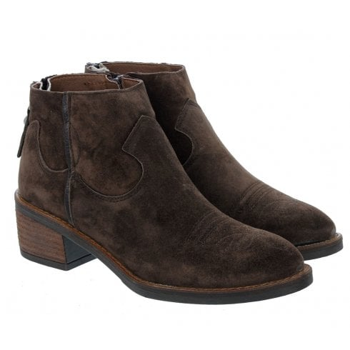Alpe 4392 Brown Suede Ankle Boot