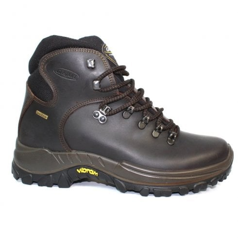 Grisport Everest Mens Waxed Leather Vibram Hiking Lace Up Brown Boot