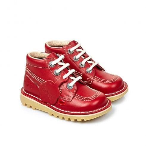 Kickers Kick Hi Classic Infant Boots - Red