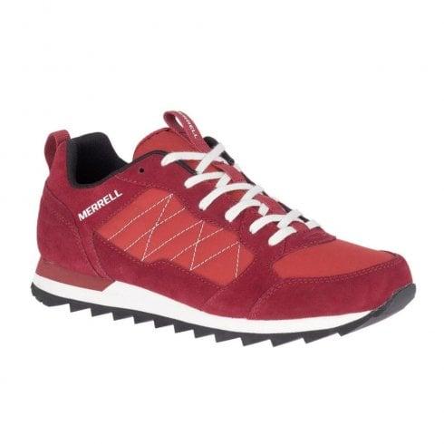 Merrell Mens Alpine Red Suede Sneakers