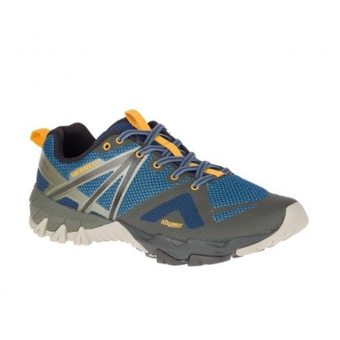 Merrell Mens MQM Flex GTX Gore-Tex Hiking Shoes - Blue/Grey