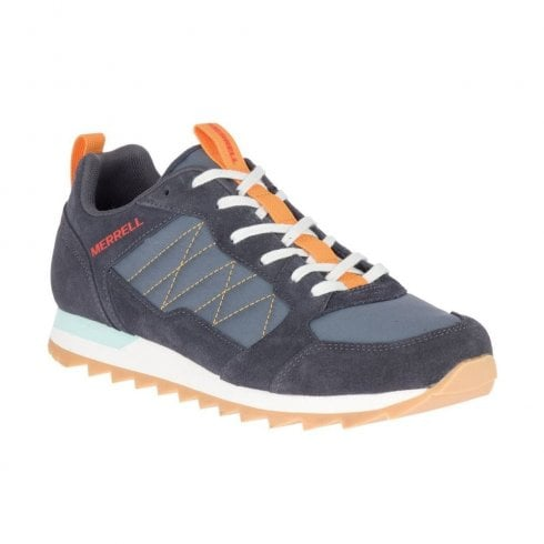 Merrell Mens Alpine Suede Navy/Orange Sneakers